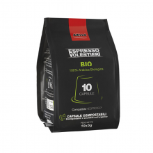 100% Arabica Bio espresso kapsulės, 10 vnt.