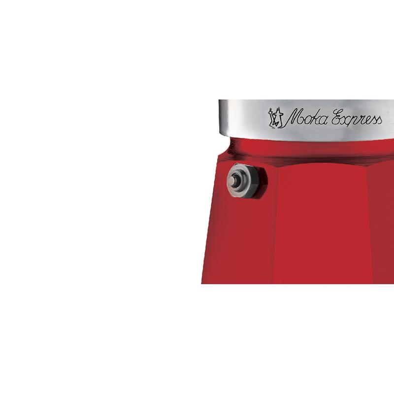 Bialetti Moka Express Rosso, 6-ų espresso puodelių